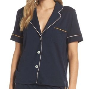 Madewell Knit Bedtime Pajama Top small navy new